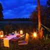 Elephant Pepper Mara Camp bush dinner