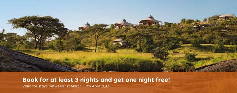 Stay for 4 nights pay for 3 Mahali Mzuri Offer
